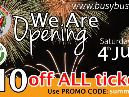 BusyBus reopening 4th July with special discounts